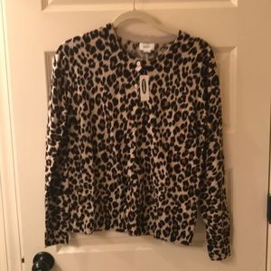 NWT Old Navy Leopard Cardigan size Large